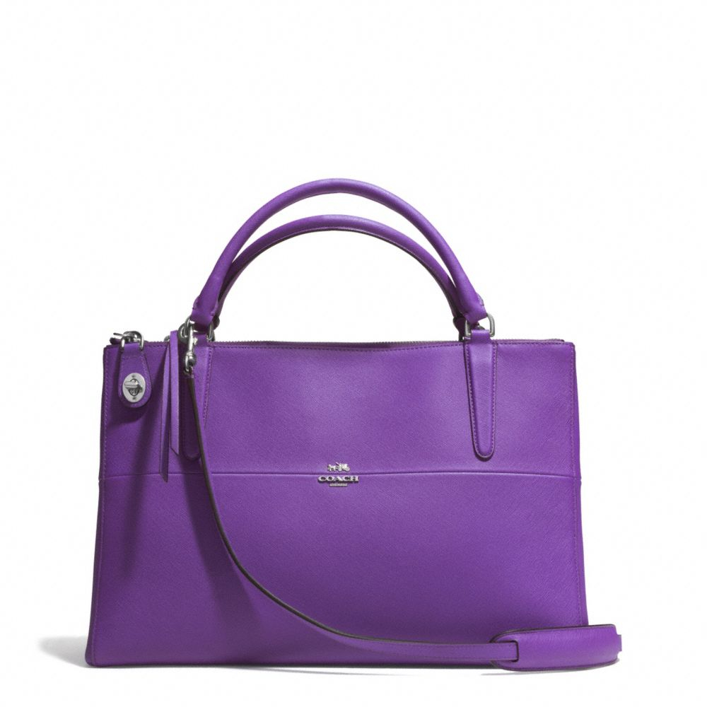 8ab98fe7bb18 Lyst - COACH The Borough Bag In Saffiano Leather in Purple