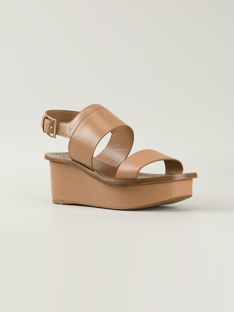 8bcac4902c0b9c Lyst - Tory Burch Wedge Sandals in Natural