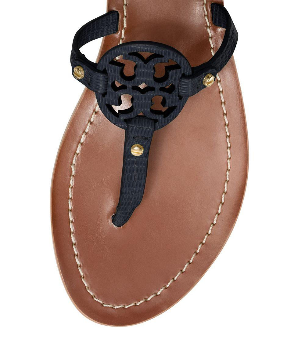 e1ca600779b2 Lyst - Tory Burch Mini Miller Flat Thong Sandal in Blue