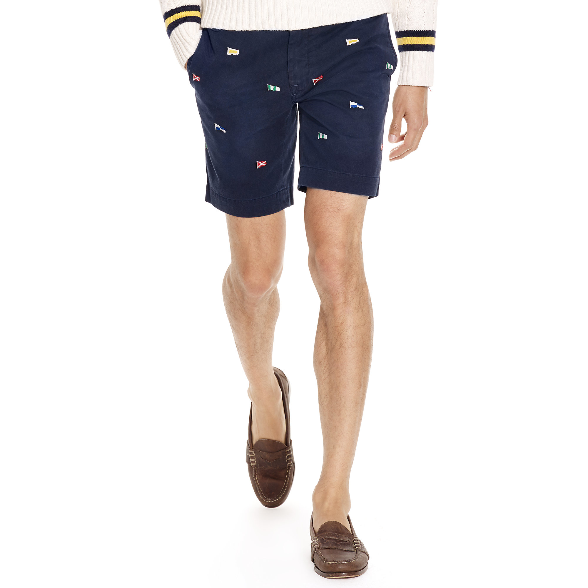 32fd9182 ... denmark lyst polo ralph lauren straight fit embroidered short in blue  for men 1df73 3fc49