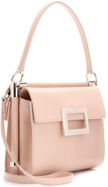 Roger Vivier Miss Viv Leather Shoulder Bag in Pink (nude ...