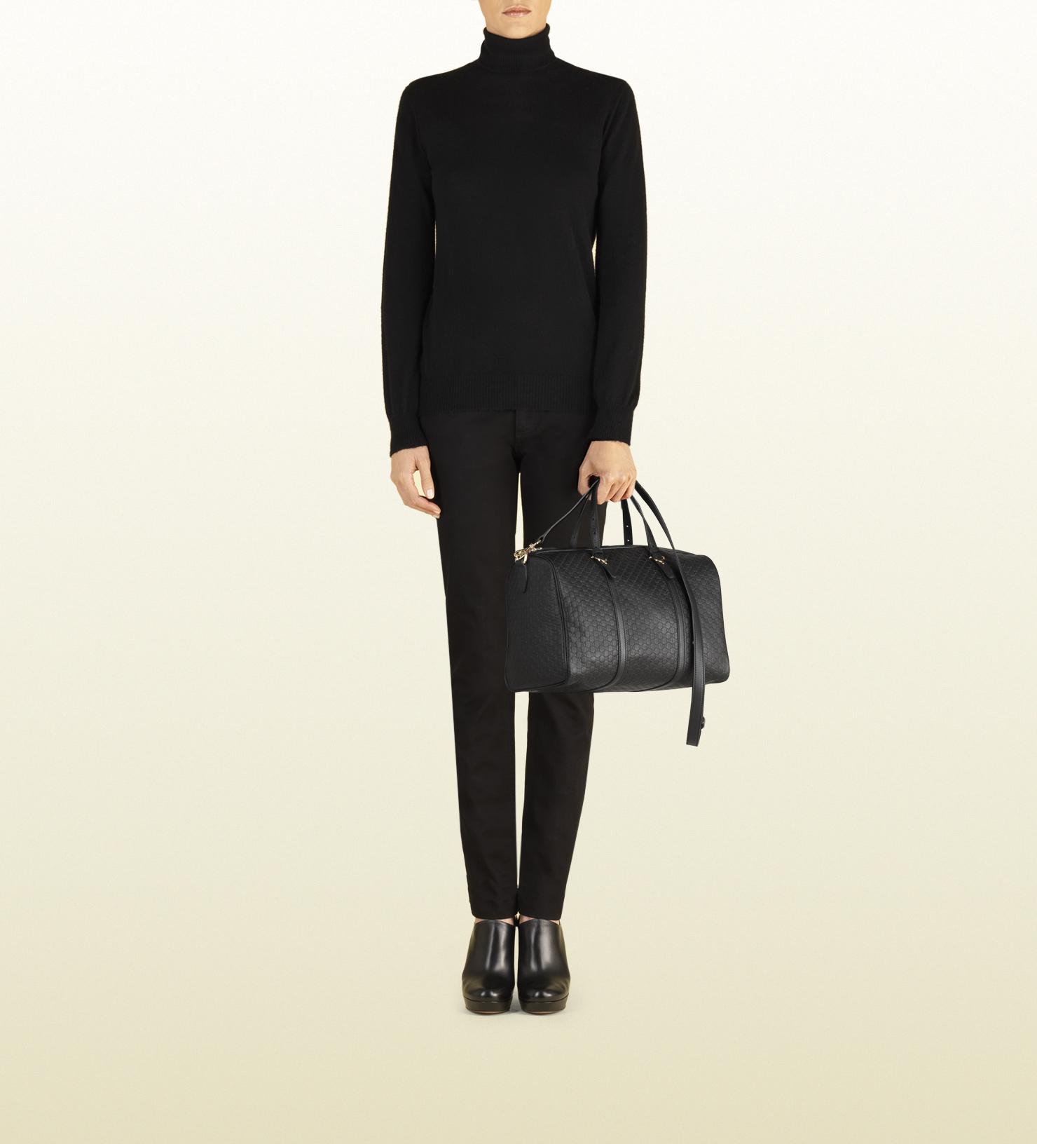 71e9b417674 Gucci Nice Microguccissima-Leather Boston Bag in Black - Lyst