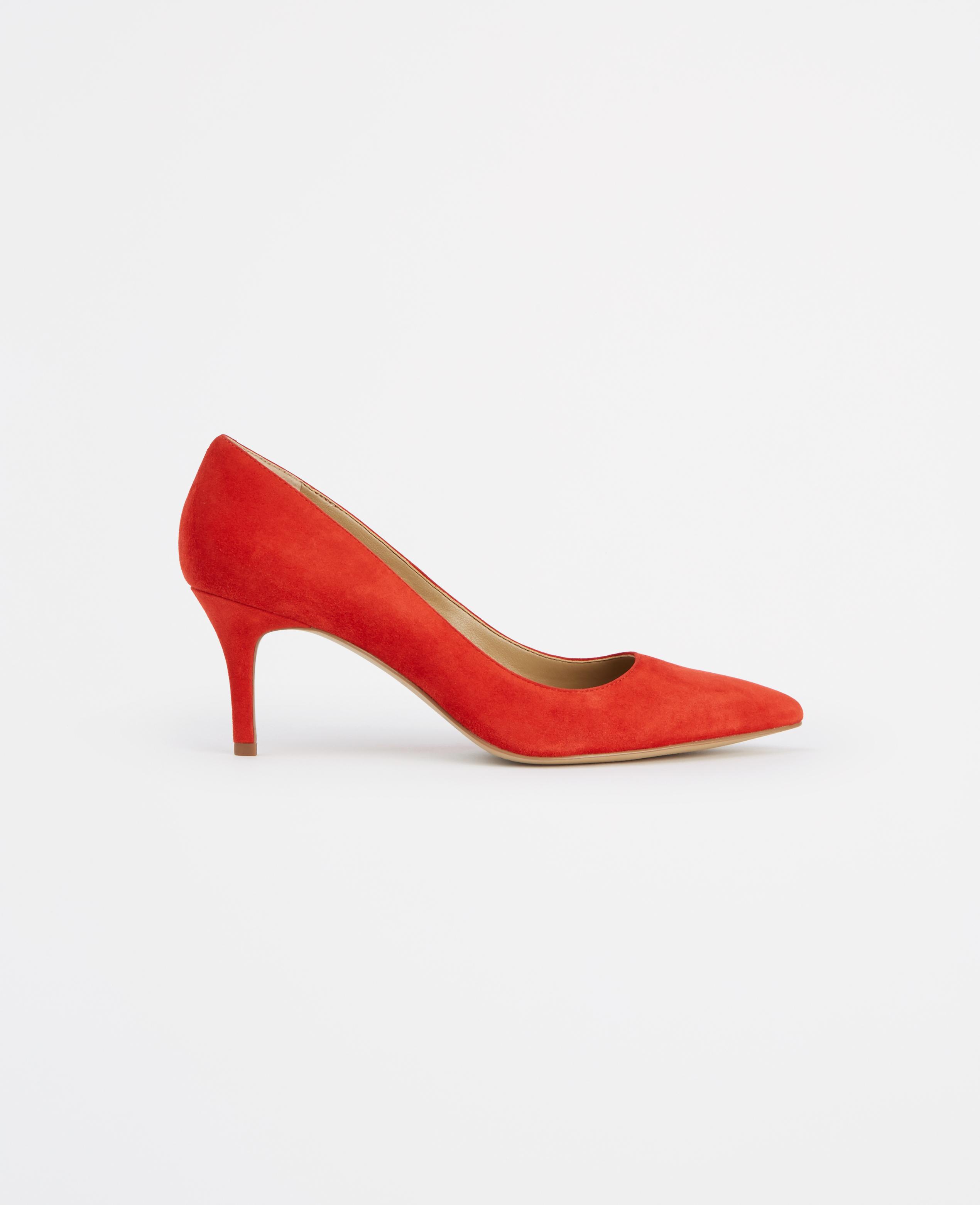 Ann taylor Eryn Suede Kitten Heels in Orange | Lyst