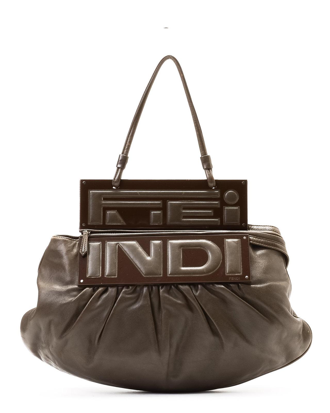 Property Brothers Apply Fendi Brown Handbag In Brown Lyst