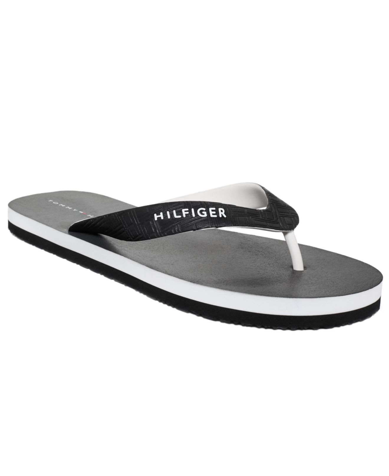 tommy hilfiger sullivan flip flops in black for men lyst. Black Bedroom Furniture Sets. Home Design Ideas