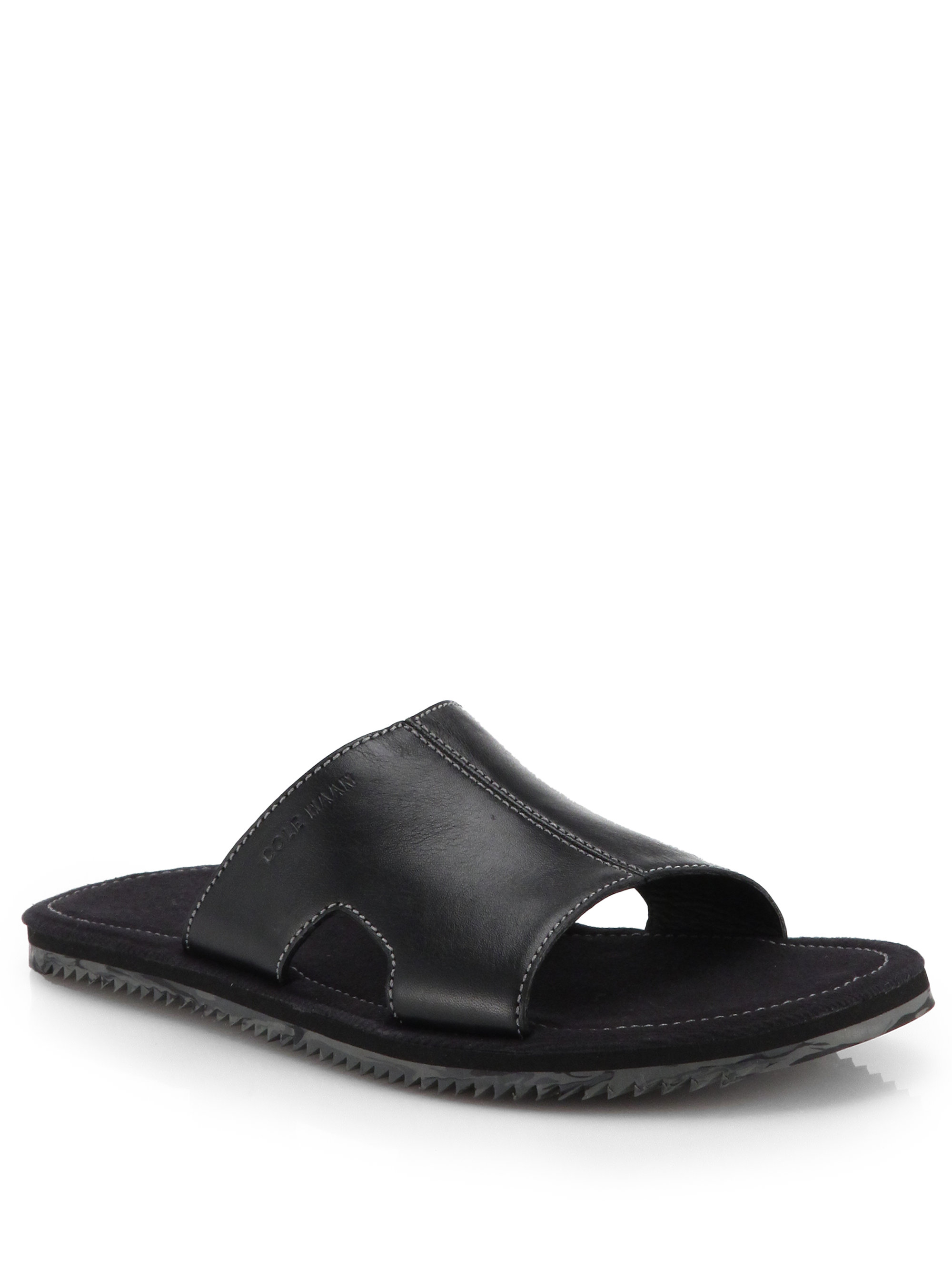 85cf3f790b75 Lyst - Cole Haan Meyer Slide Sandals in Black for Men