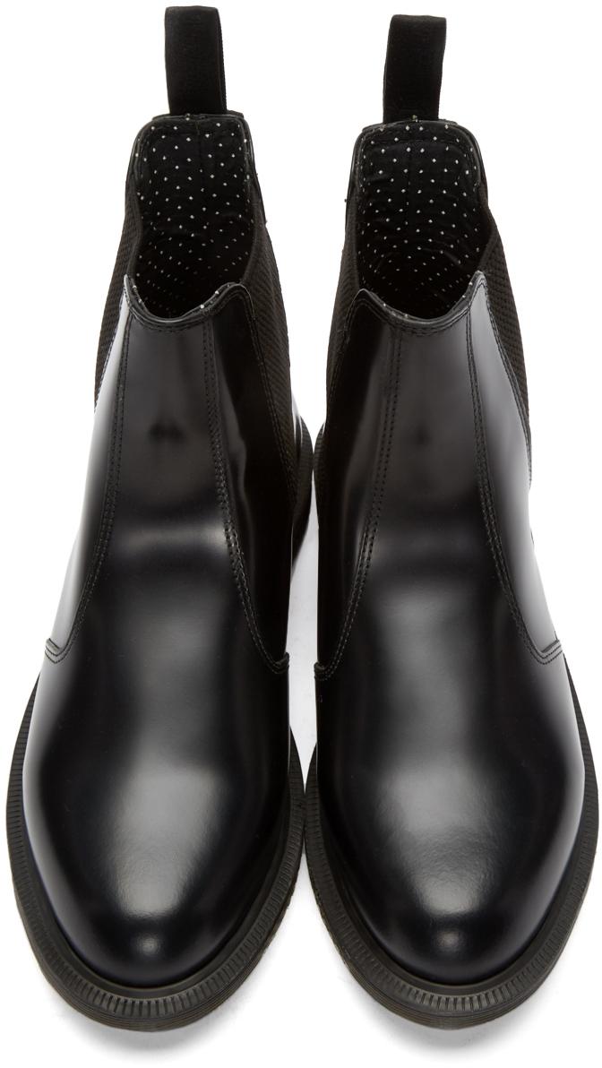 8c127d4de40 Dr. Martens Black Flora Chelsea Boots in Black - Lyst