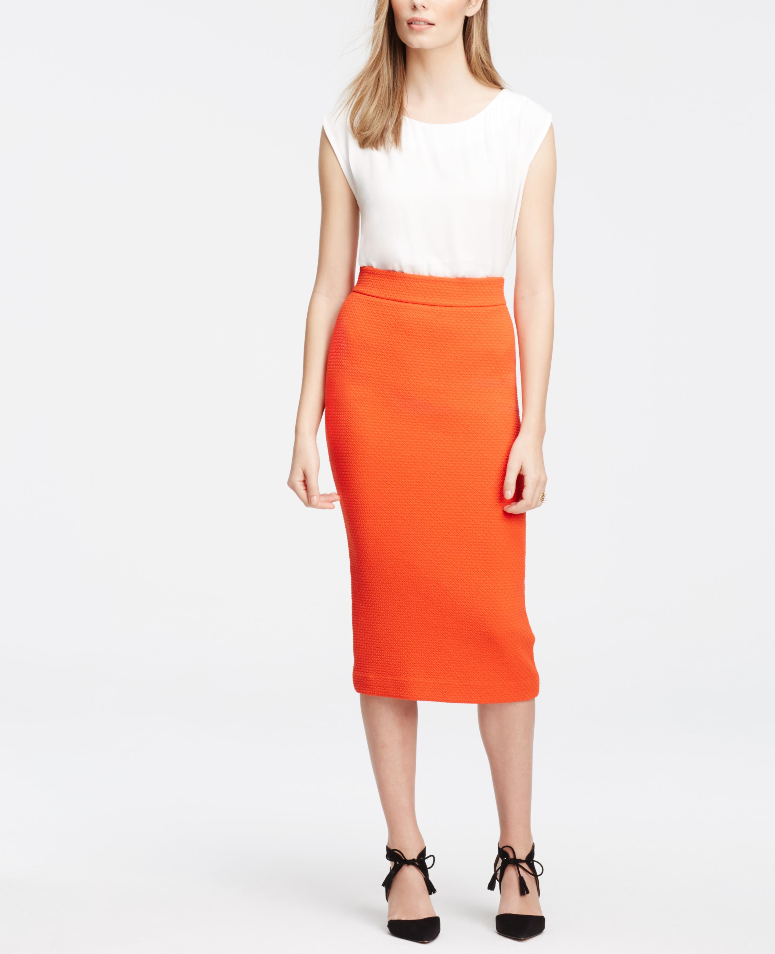 Orange Pencil Skirt - Dress Ala