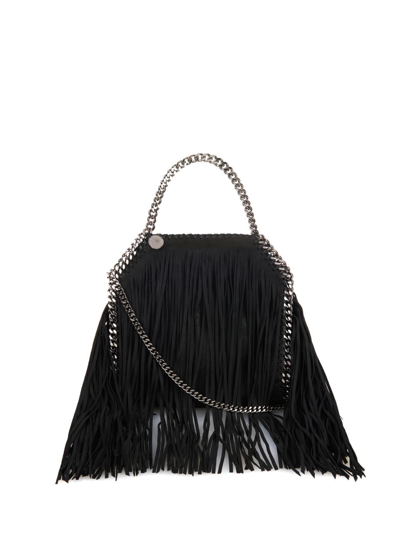 b3b3ce131ed6 Stella McCartney Falabella Fringed Faux-suede Cross-body Bag in ...