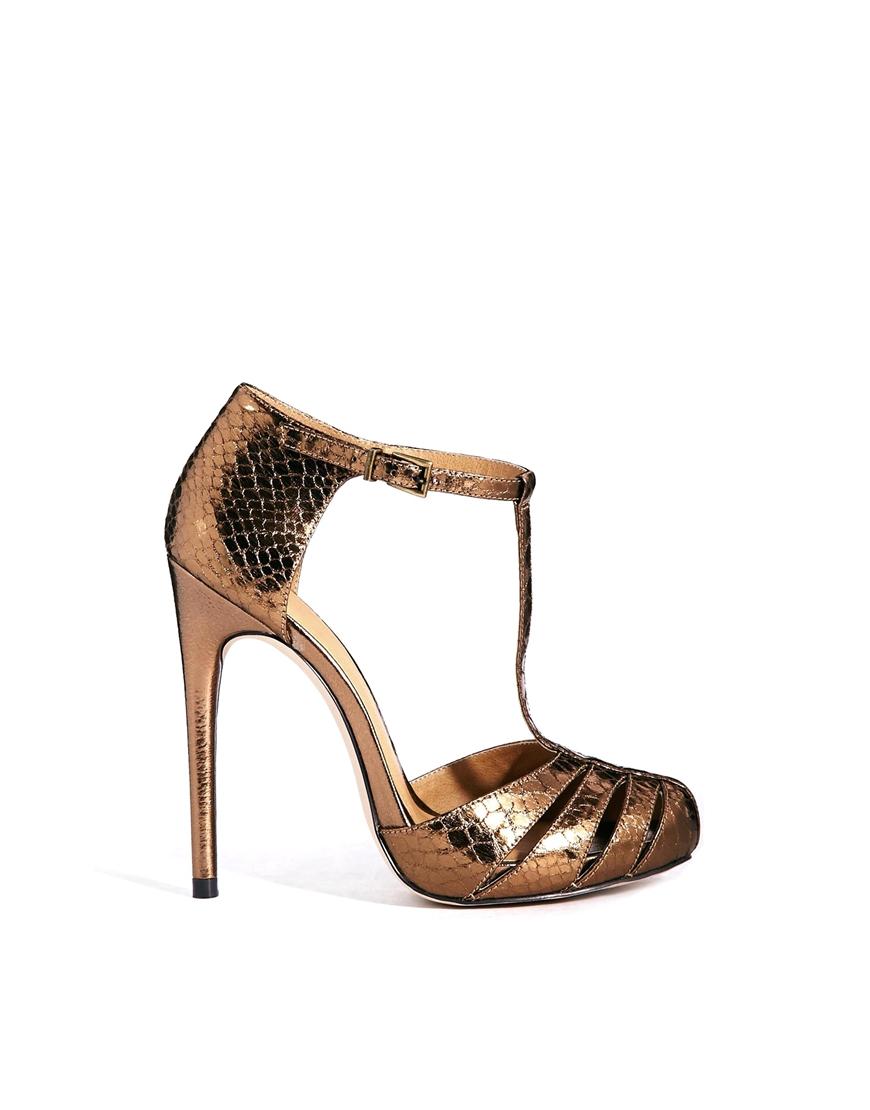 Lyst Asos Practiced High Heels In Metallic
