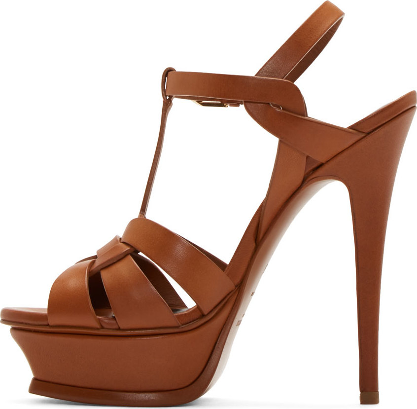 5e850a114719 Gallery. Previously sold at  SSENSE · Women s Saint Laurent Tribute Women s Wedge  Platform Sandals ...