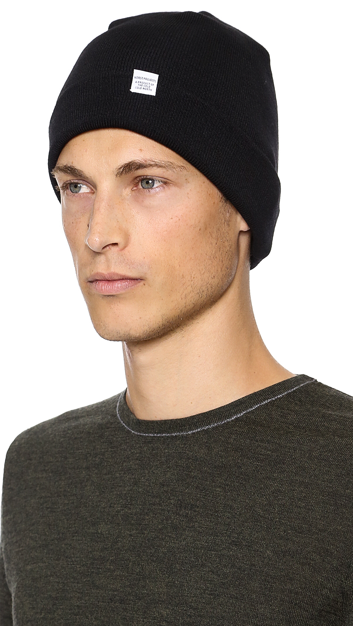Lyst - Norse Projects Norse Top Beanie in Black for Men 23311dd1e23