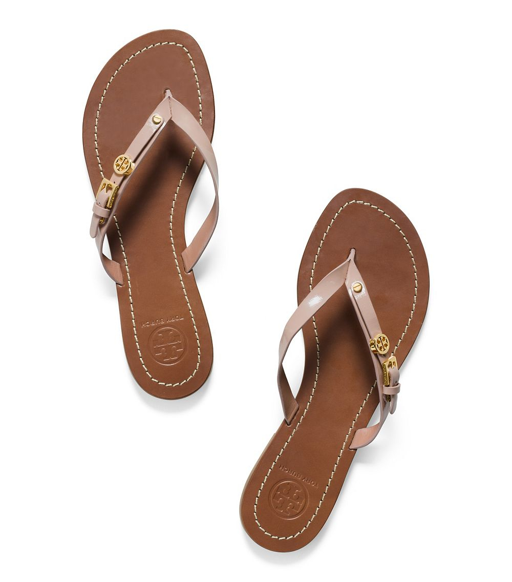 Leather Thong Sandal  Letters