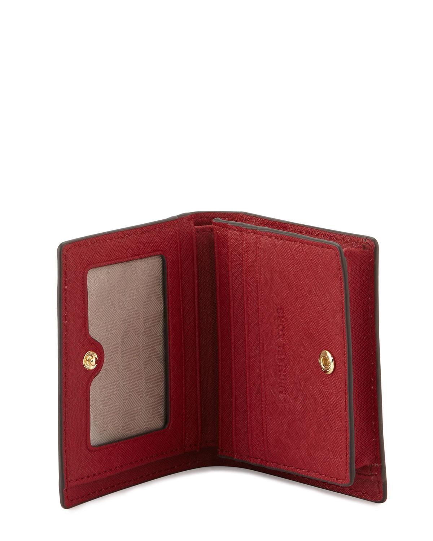 6f8dd6dc8178 Lyst - MICHAEL Michael Kors Jet Set Travel Flap Card Holder in Red