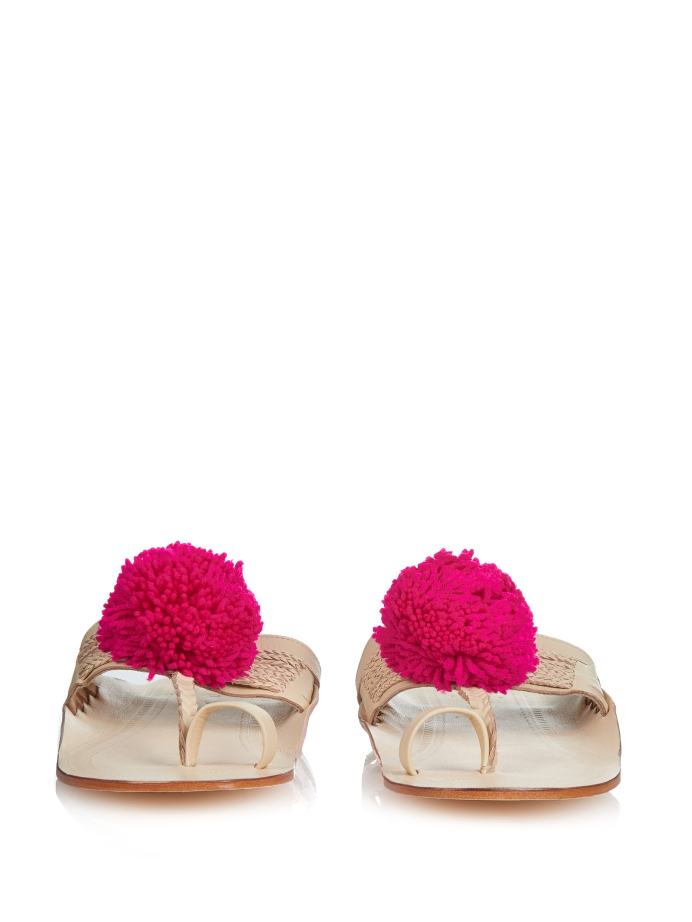 Lyst Figue Chappal Pom Pom Sandals In Pink
