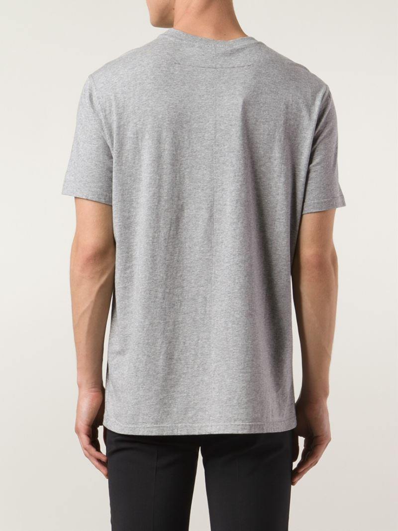 Givenchy 39 Amerika 39 T Shirt In Gray For Men Lyst