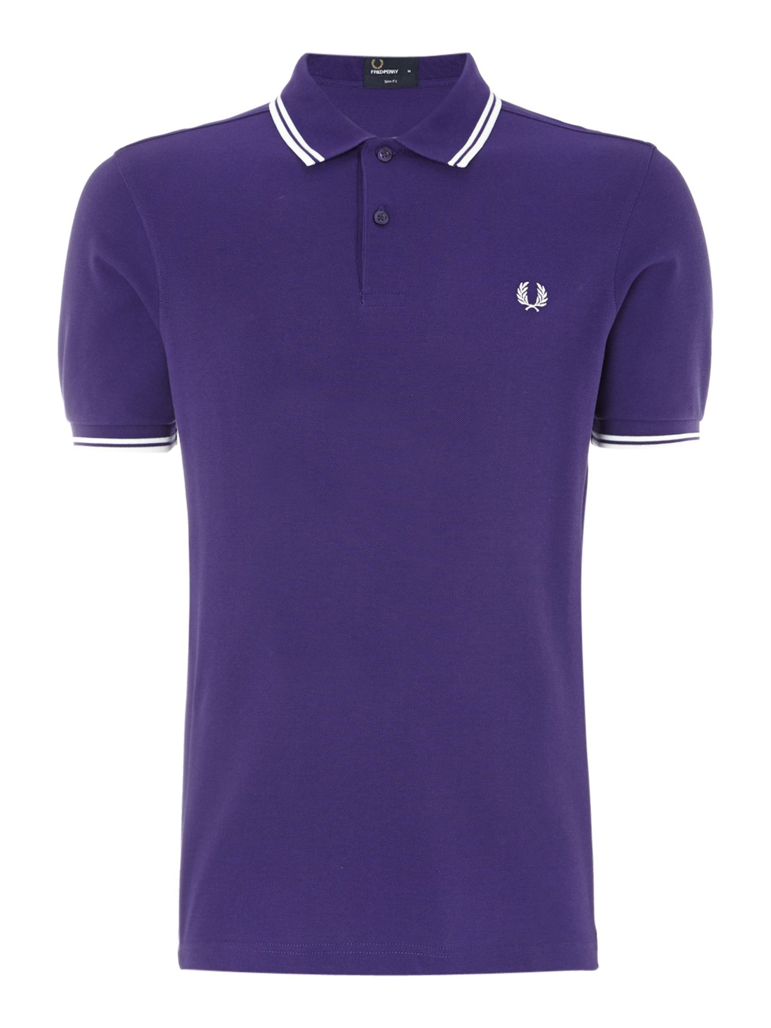 fred perry classic slim fit twin tipped polo shirt in. Black Bedroom Furniture Sets. Home Design Ideas