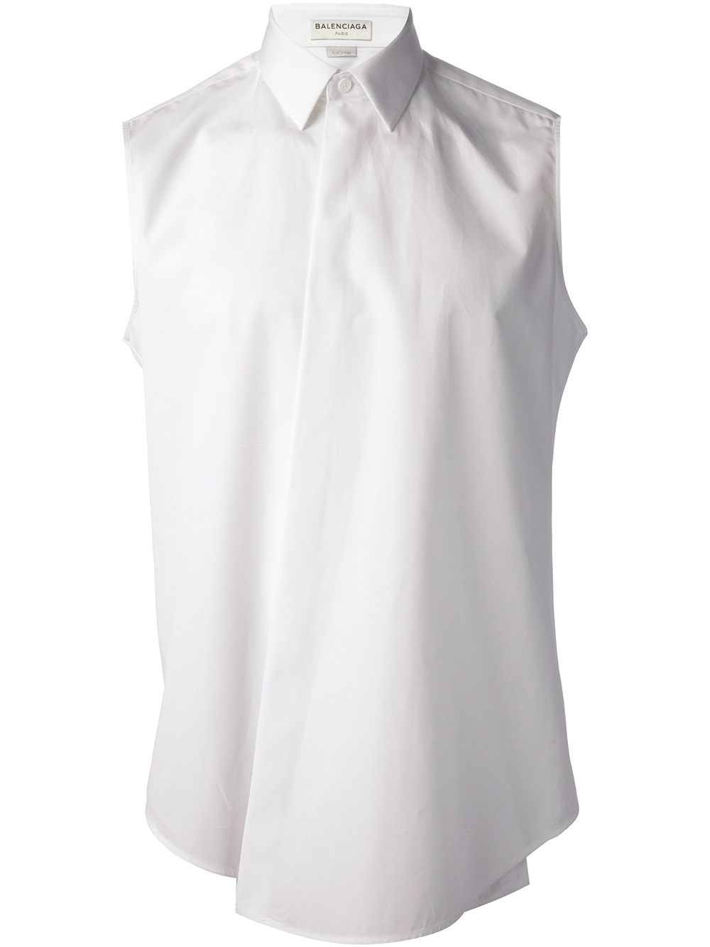 Balenciaga Sleeveless Shirt in White for Men | Lyst