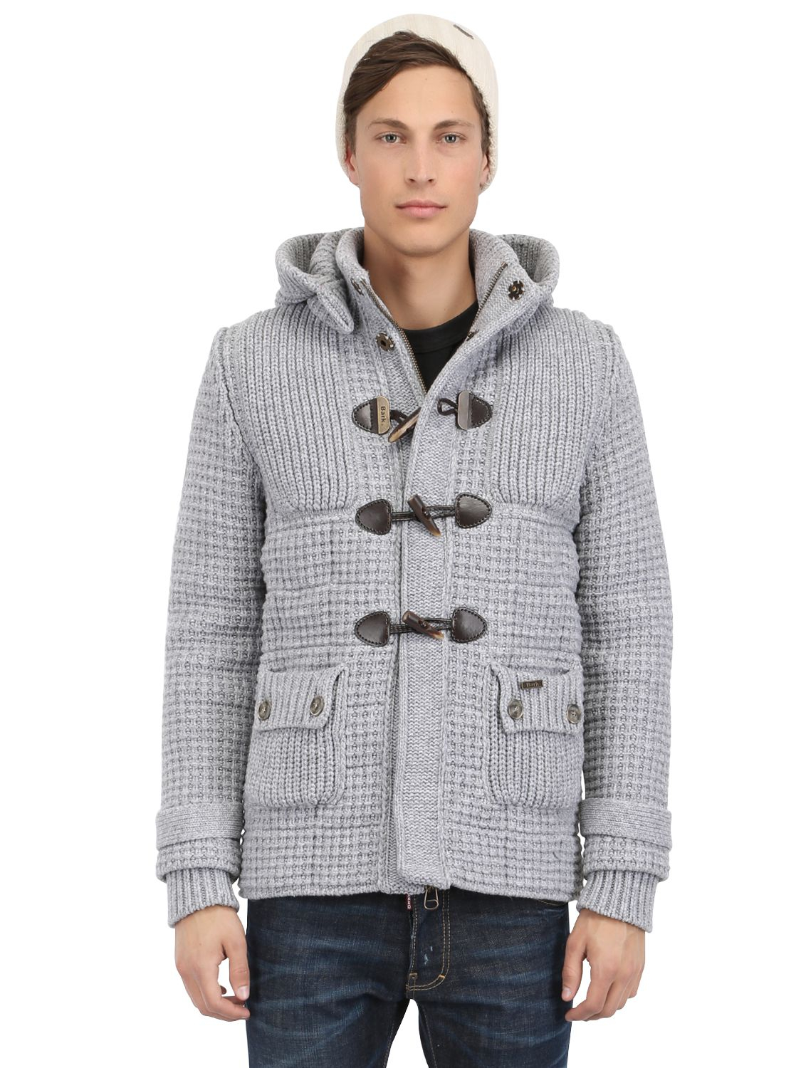 Bark New Short Wool Blend Duffle Coat in Gray for Men | Lyst