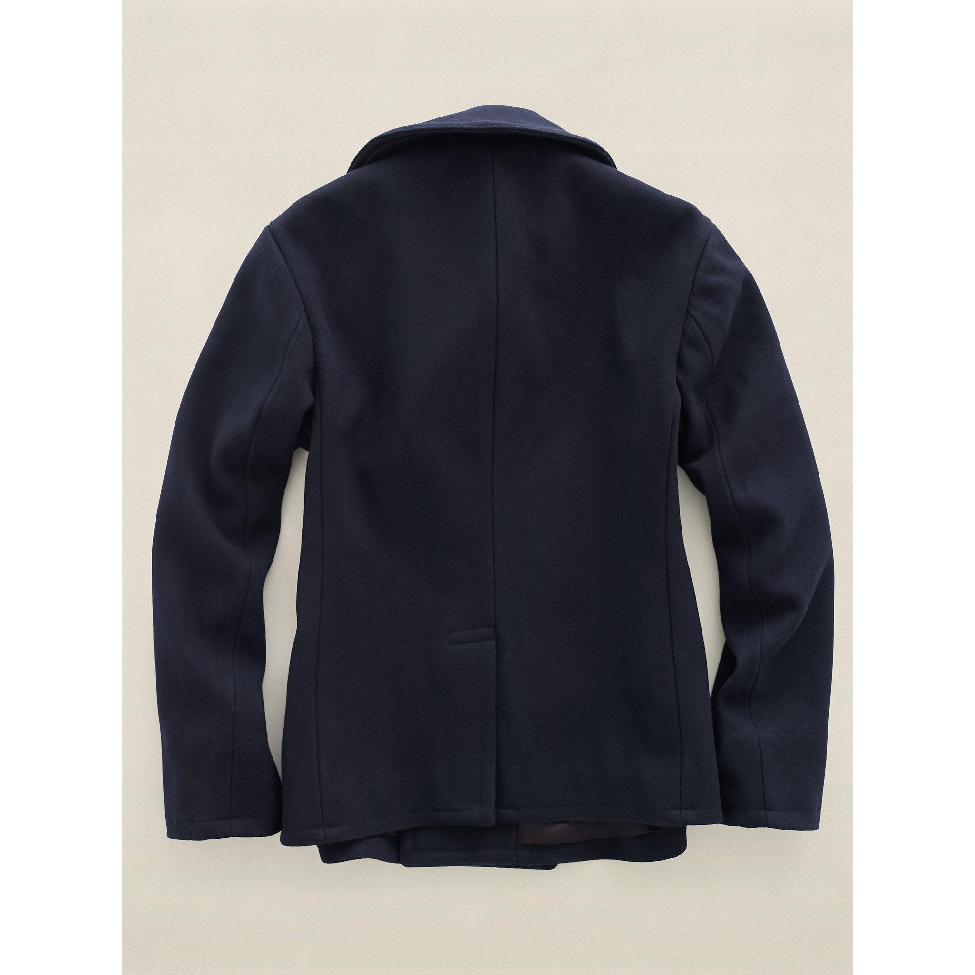 Lyst Rrl Wool Pea Coat In Blue For Men