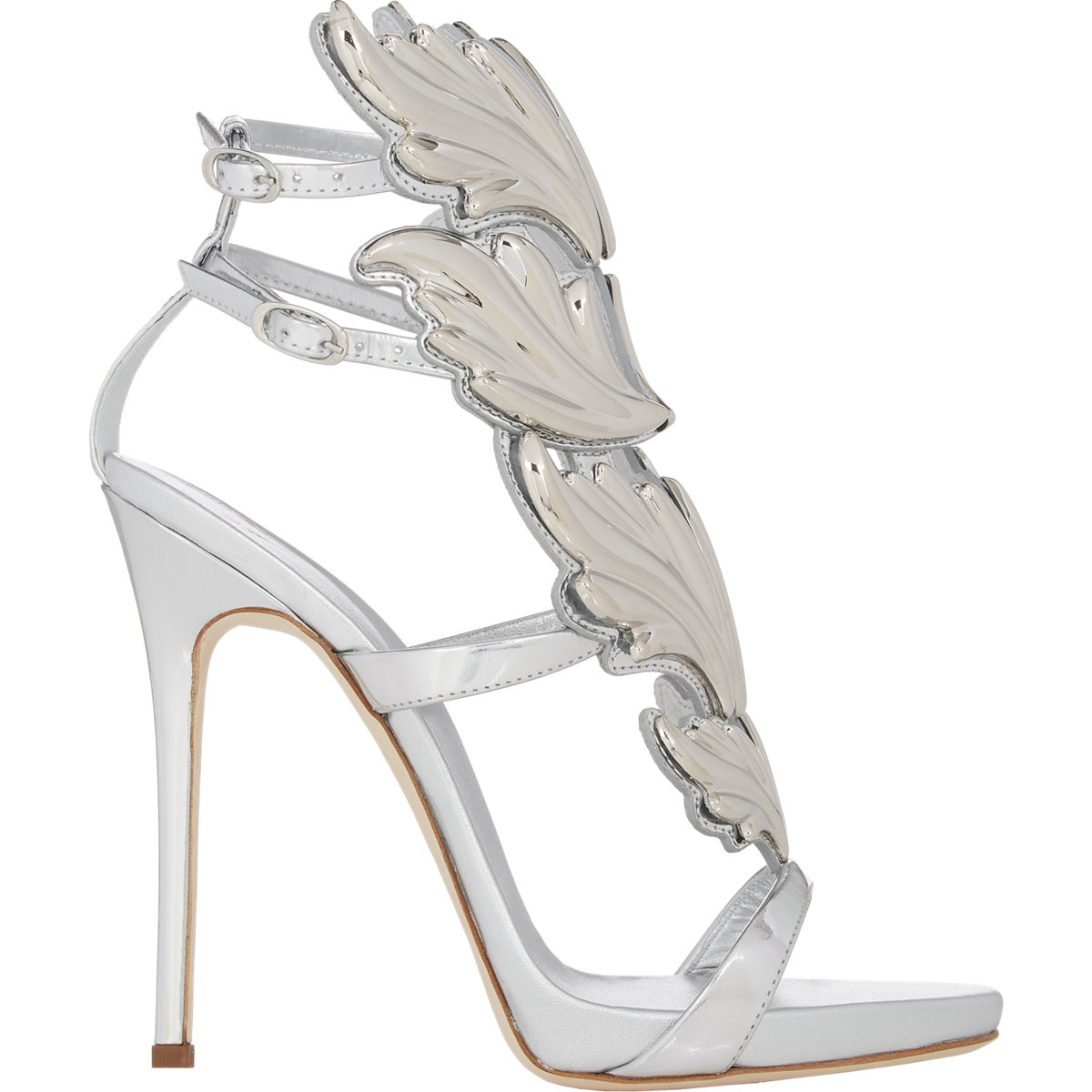a161c833a ... 50% off lyst giuseppe zanotti cruel summer sandals in metallic 246f4  3820a