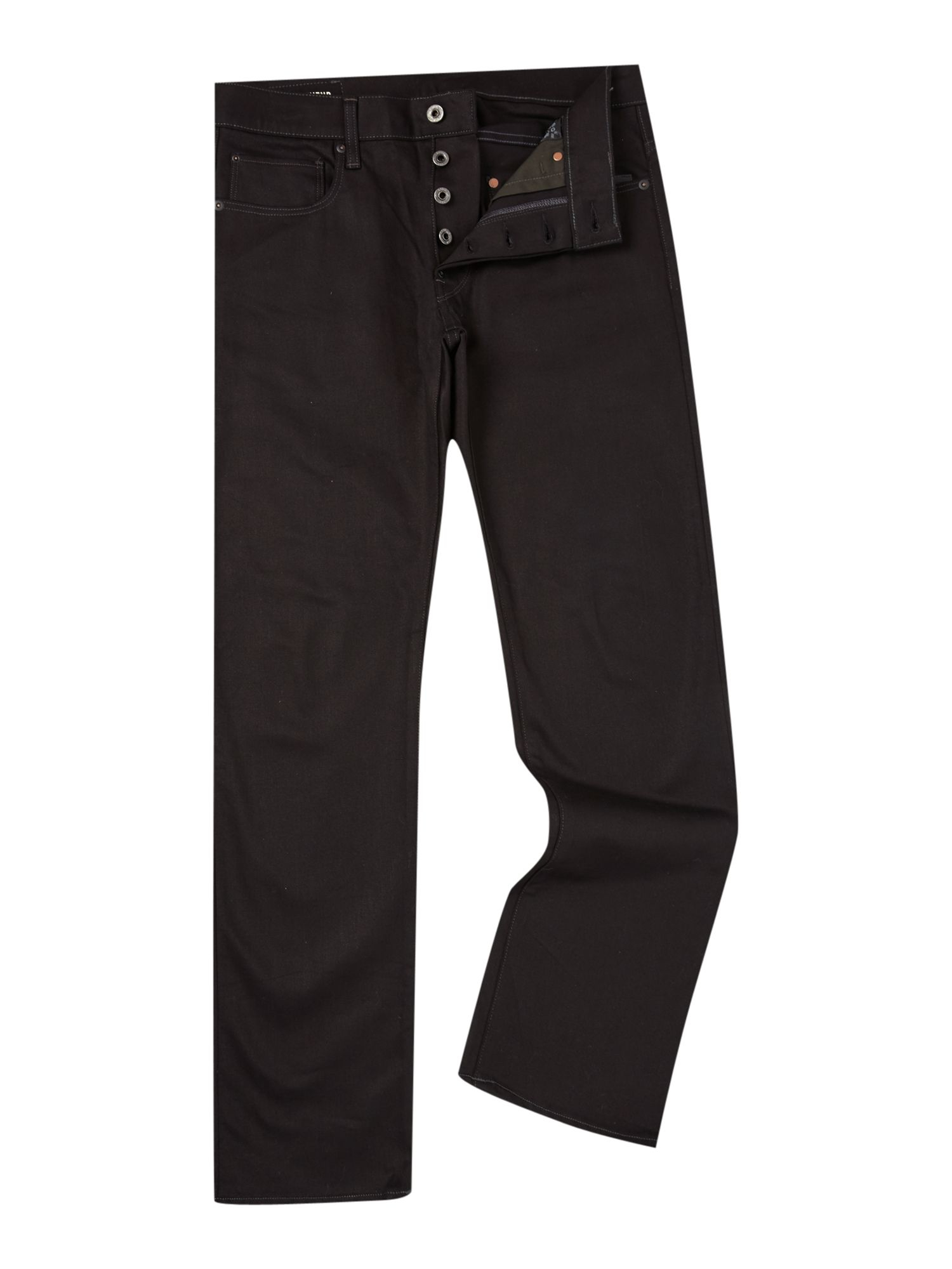 G-star raw Revend Raw Black Straight Leg Jean in Black for Men | Lyst