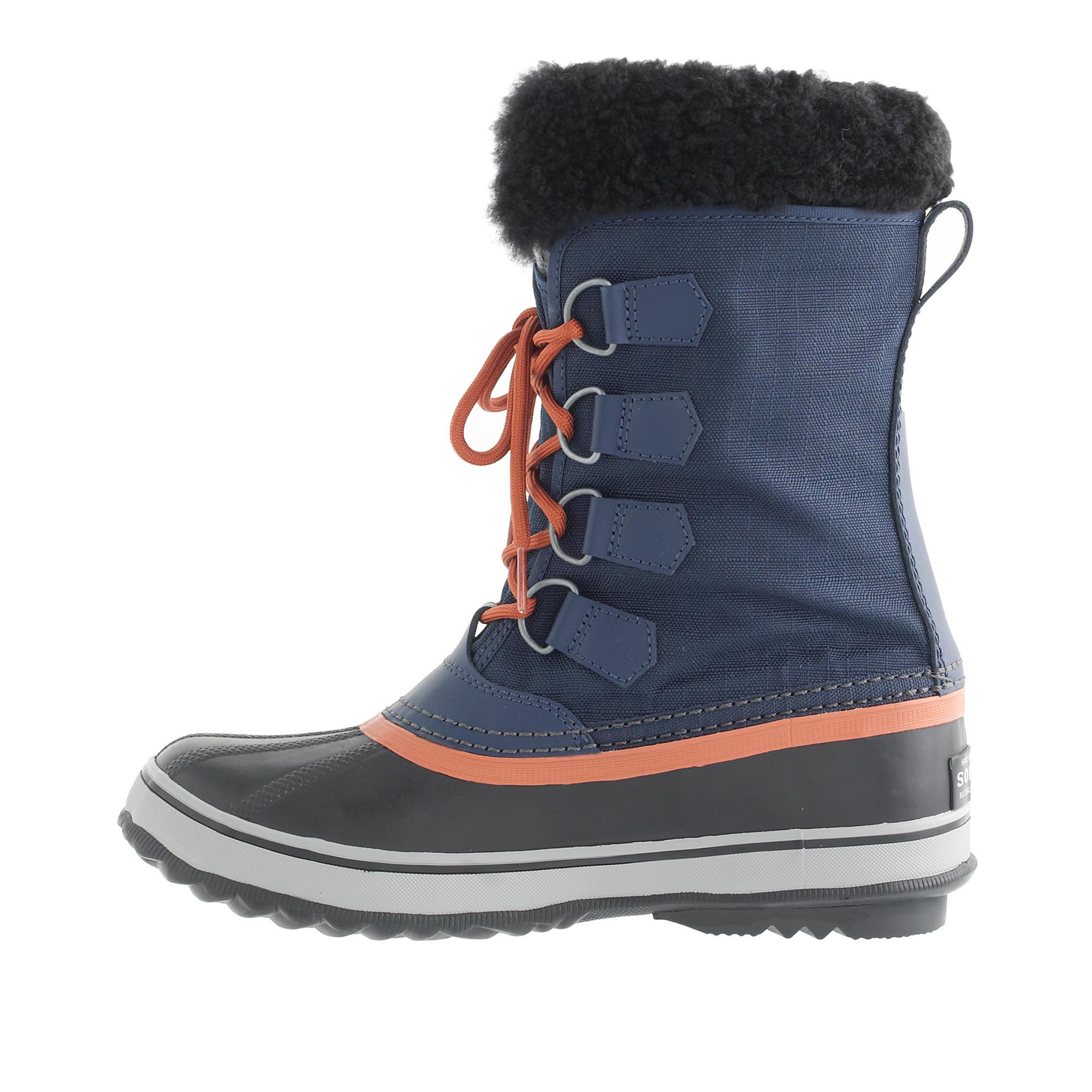 J Crew Women S Sorel Winter Carnival Boots In Blue Lyst