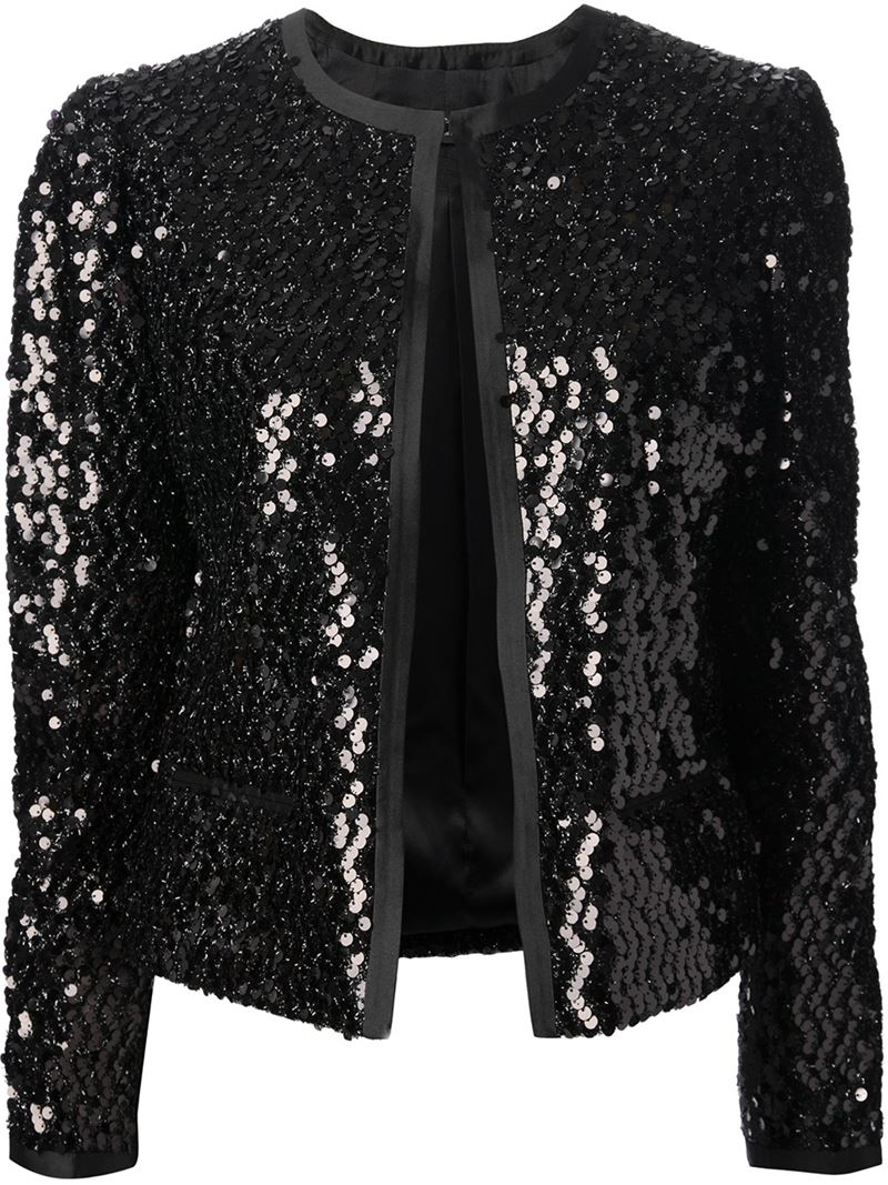 Dolce & gabbana Sequin Jacket in Black | Lyst