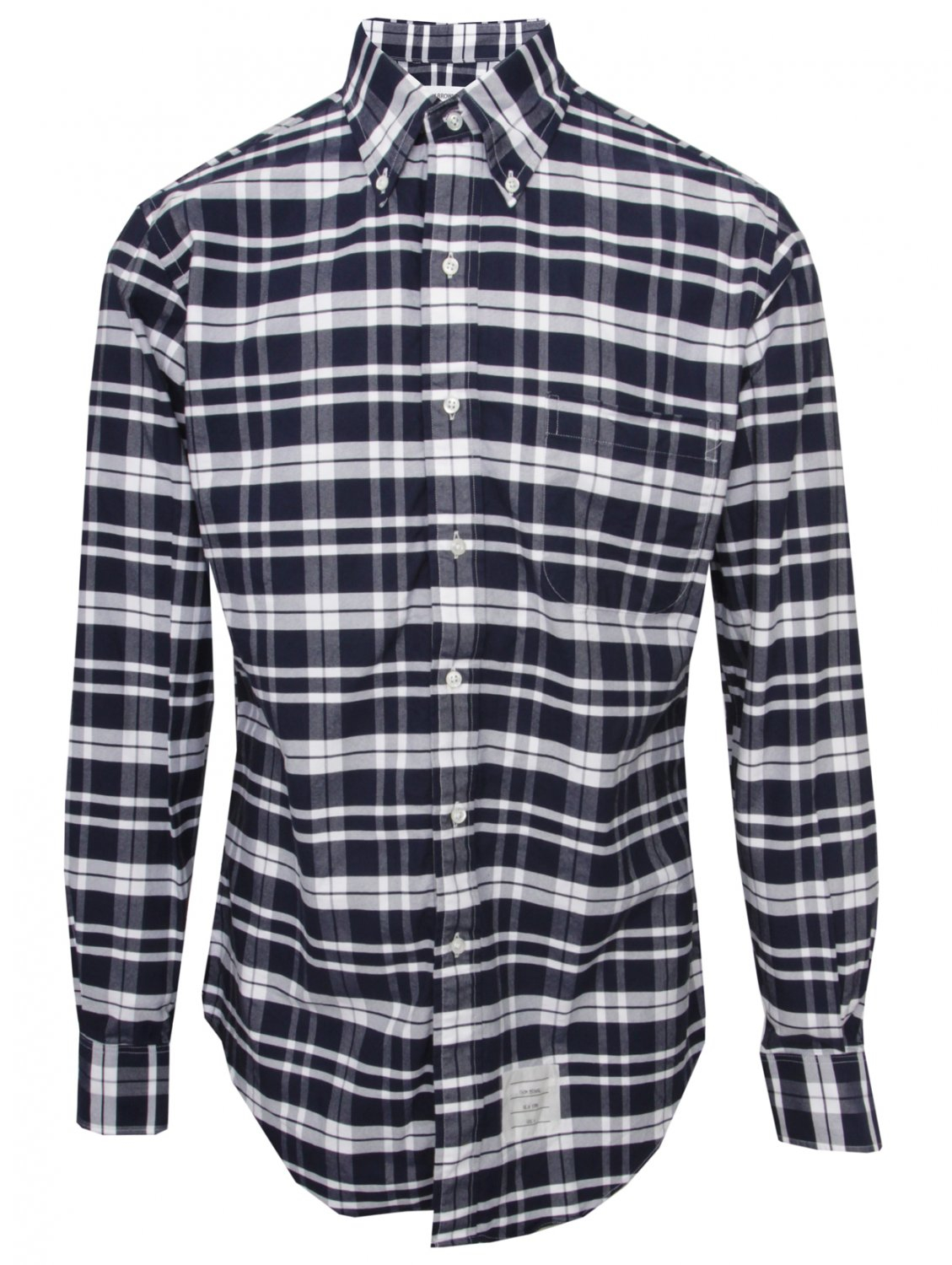 Thom Browne Classic Button Down Check Shirt Bluewhite In