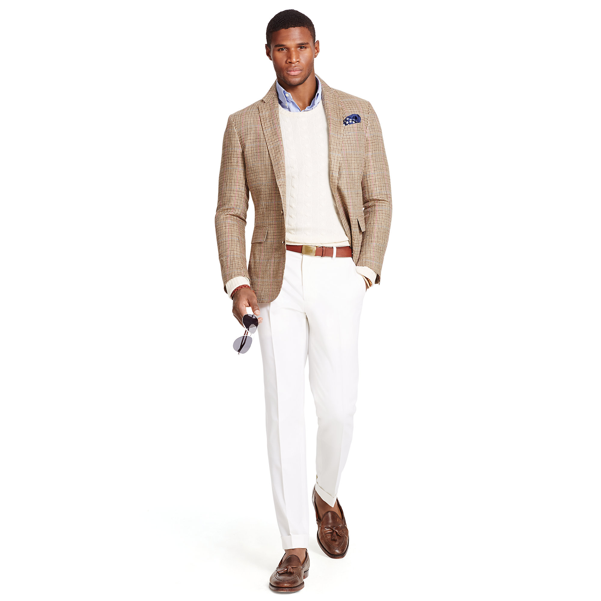 Polo ralph lauren Polo Guncheck Sport Coat in Brown for Men | Lyst