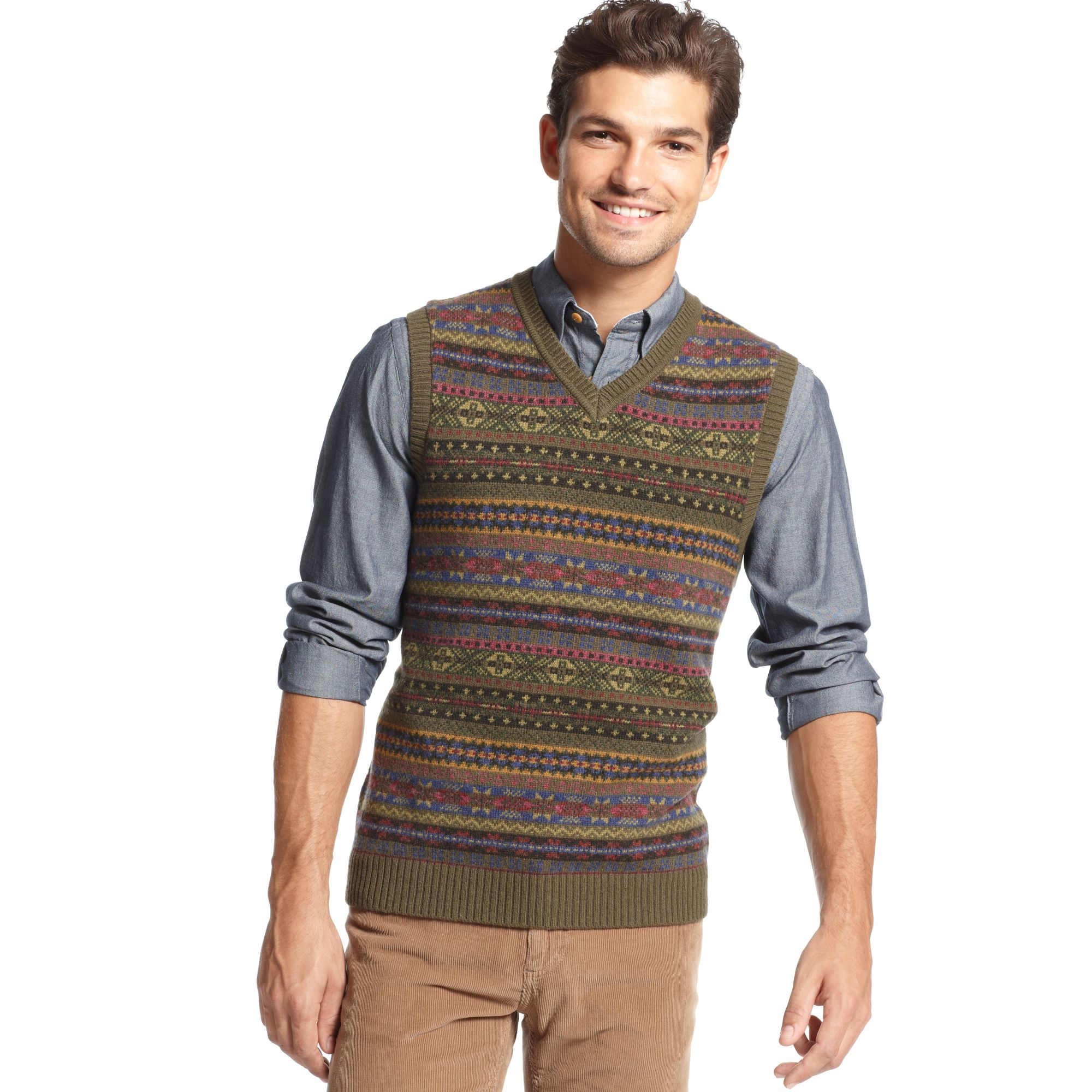 Tommy hilfiger Harry Fair Isle Sweater Vest for Men | Lyst
