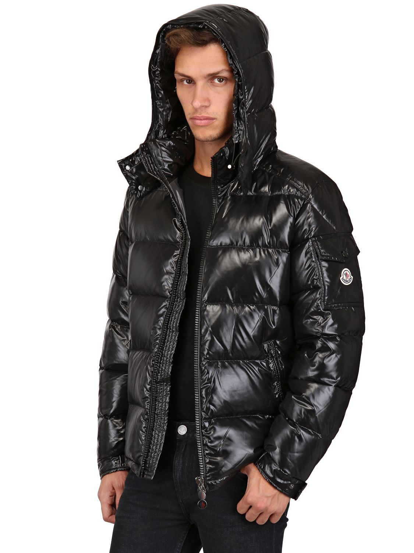 c814474a5 wholesale moncler shiny black jacket 16c41 b398b
