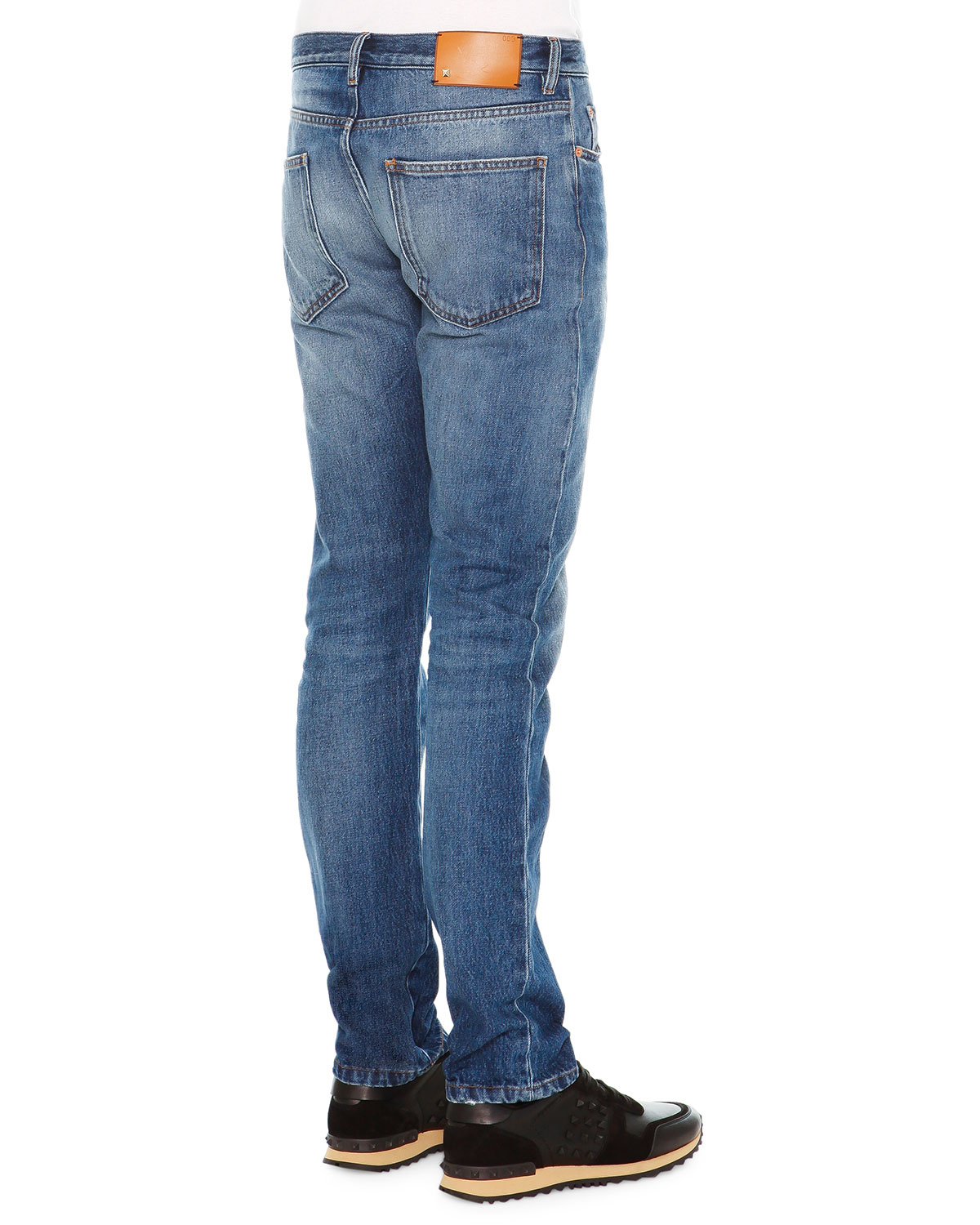 Valentino Chino-fit Straight Denim Jeans in Blue