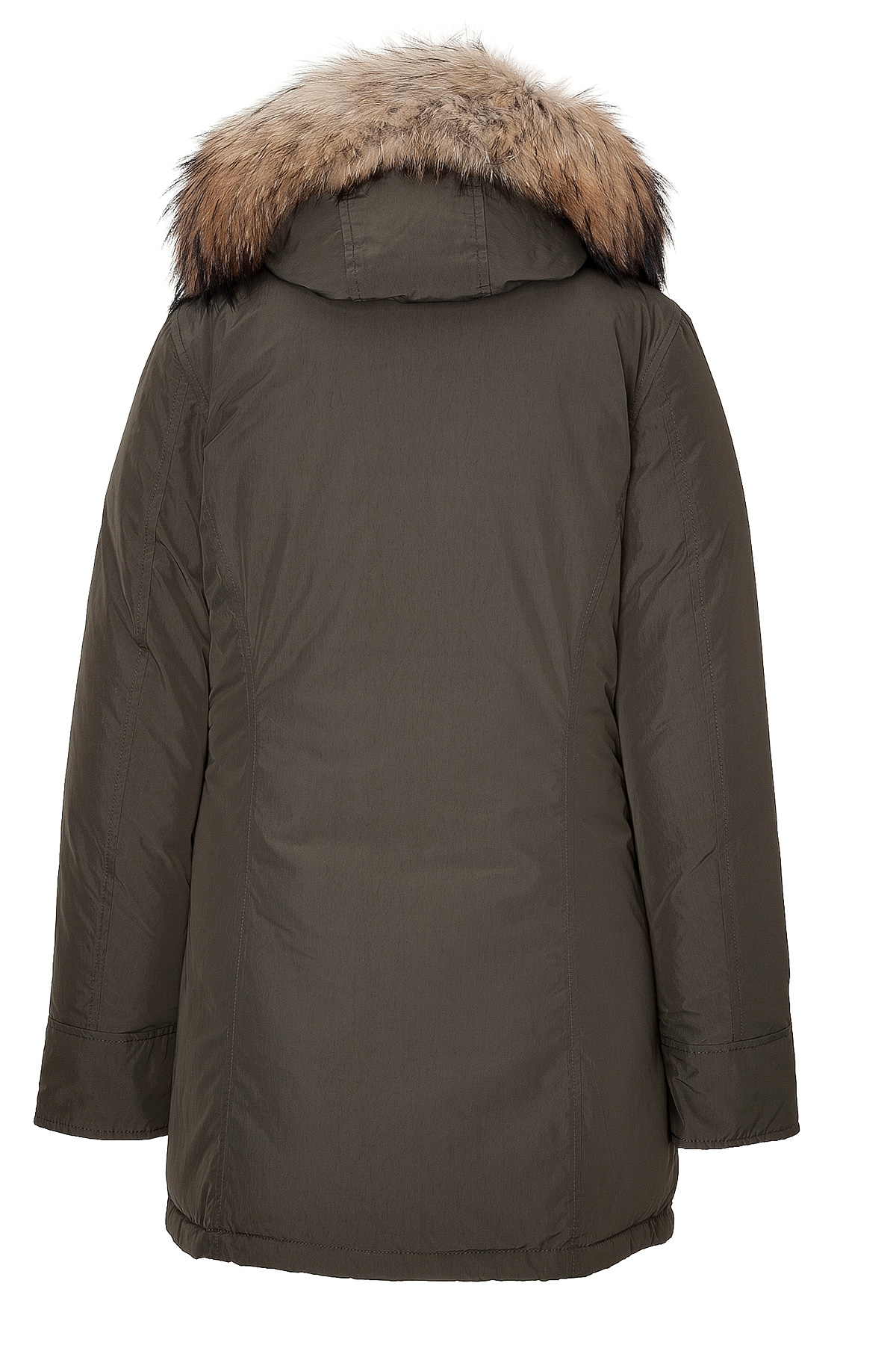 woolrich womens luxury arctic parka with fur trim in green lyst. Black Bedroom Furniture Sets. Home Design Ideas