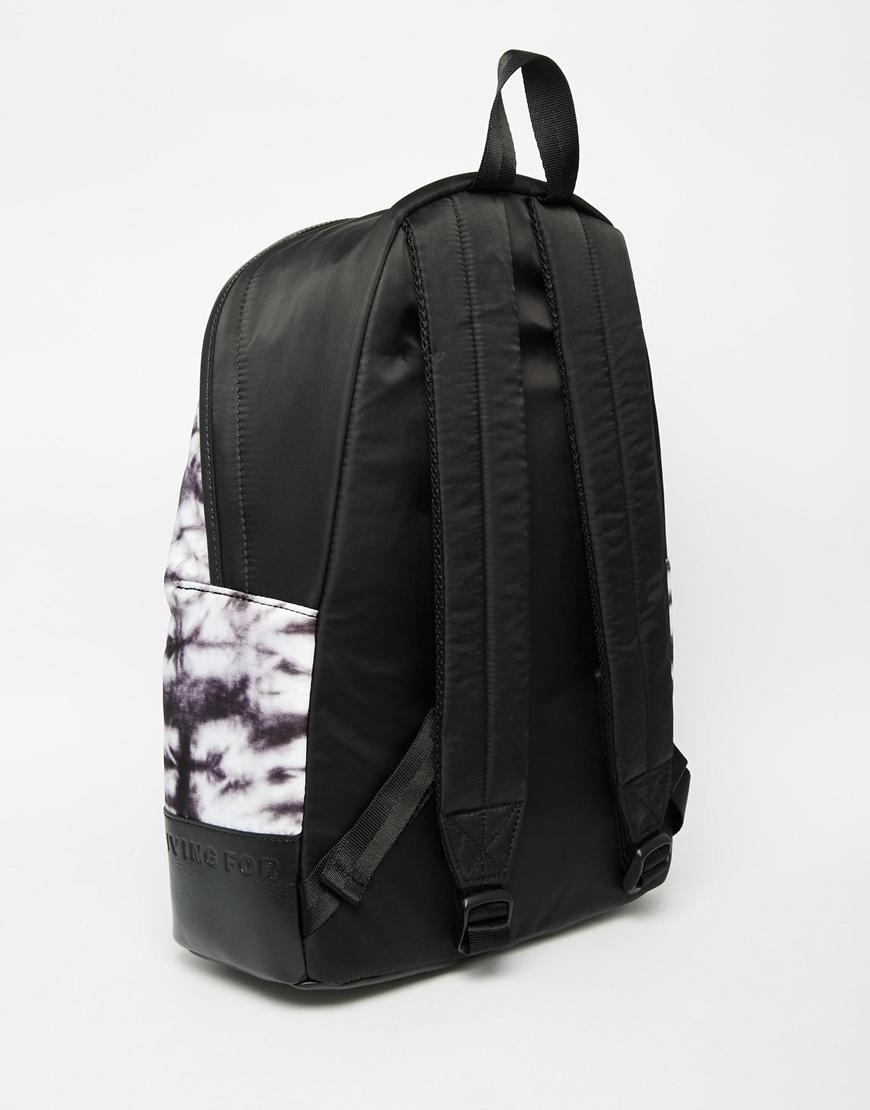Diesel Tie Dye Backpack In Black For Men Lyst