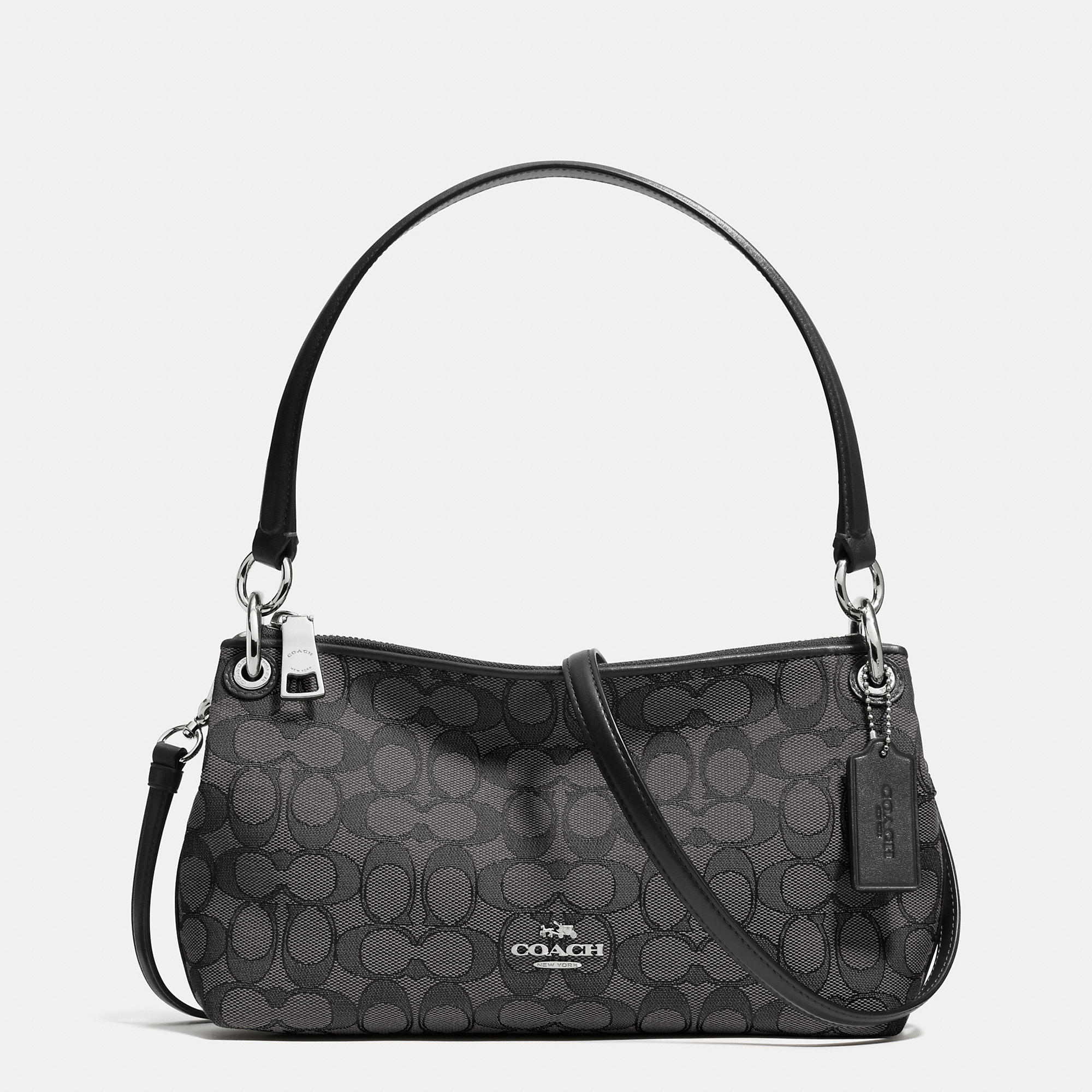 0f9f768c64f9 Lyst - COACH Charley Jacquard Cross-Body Bag in Metallic