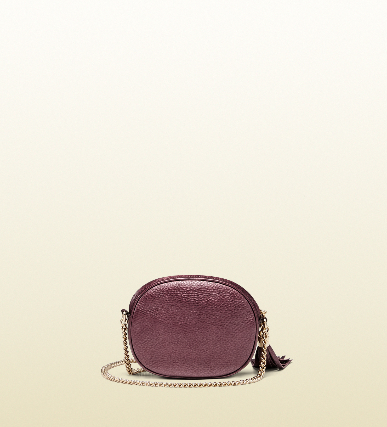 9474cf9227cc Gucci Soho Metallic Leather Mini Chain Bag in Purple - Lyst