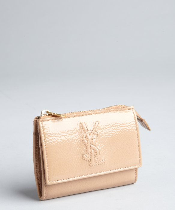 shop ysl handbags - ysl beige leather wallet