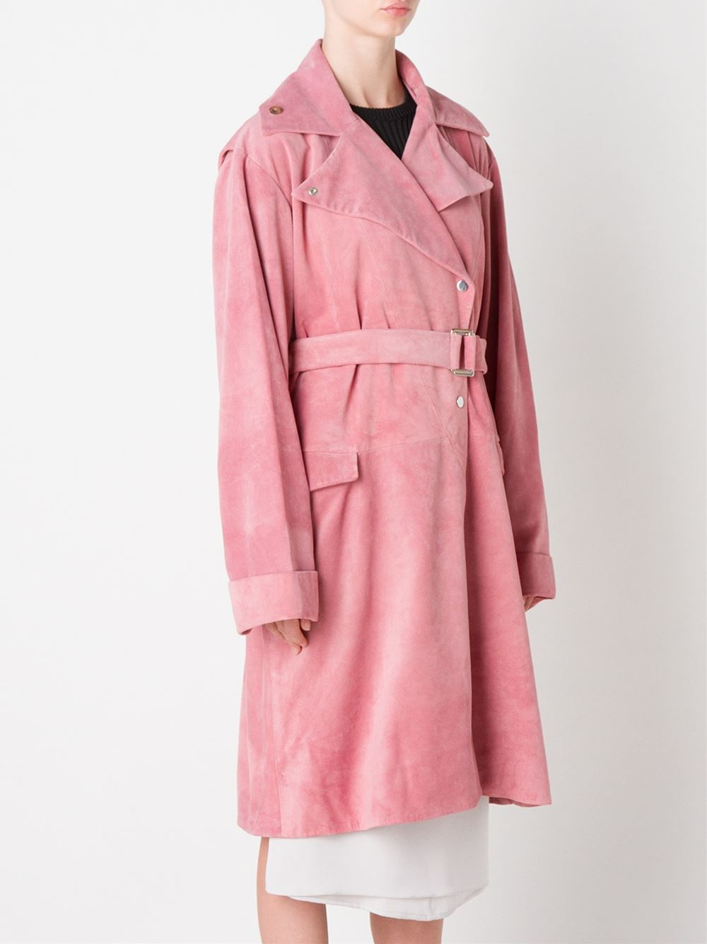 J.w.anderson Belted Trench Coat in Pink | Lyst