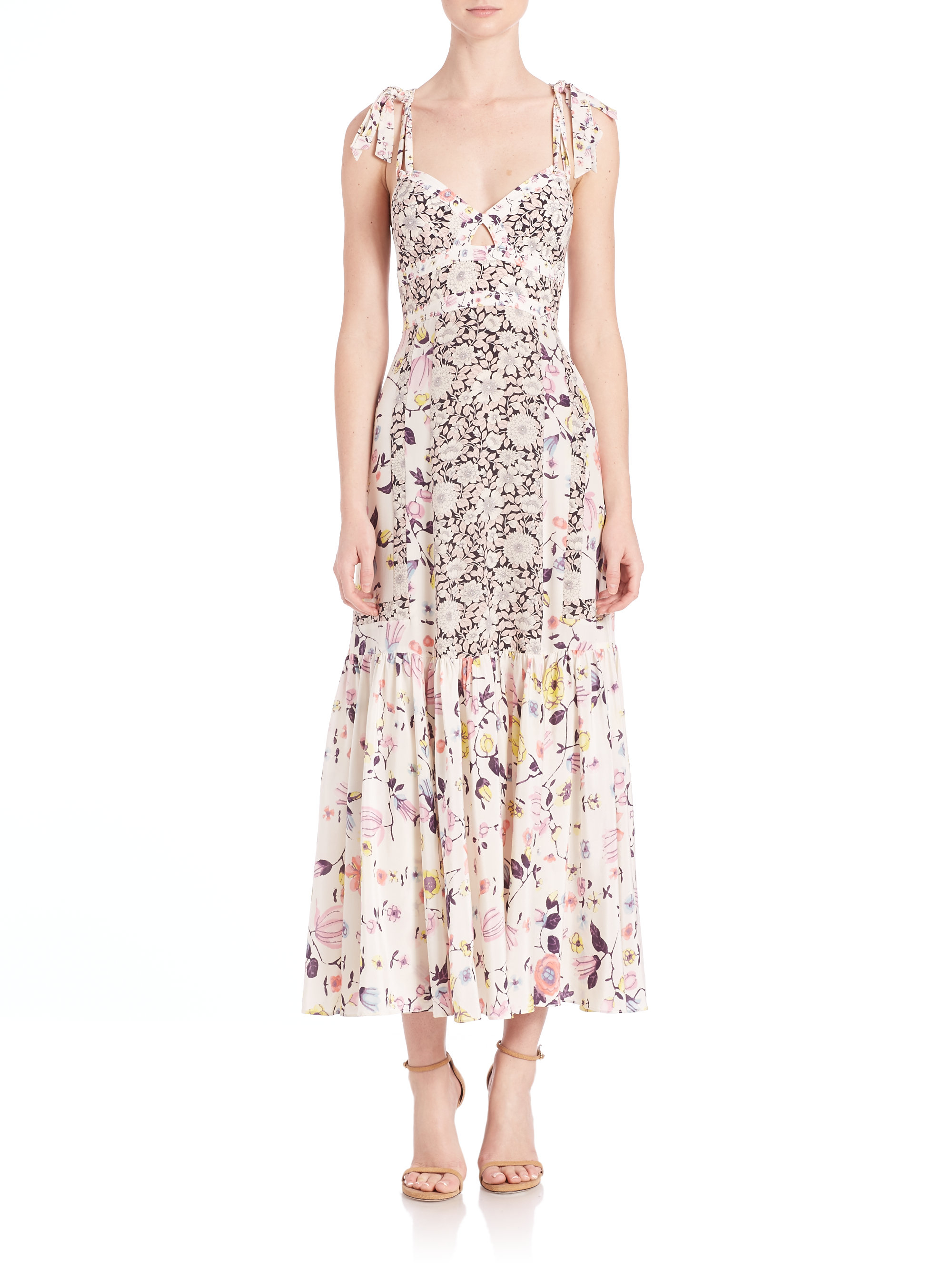 Floral-print crepe midi dress Rebecca Taylor Footlocker Finishline Cheap Price Cheap Sale 2018 New Outlet Collections Shop For Sale Online tM6MoD84