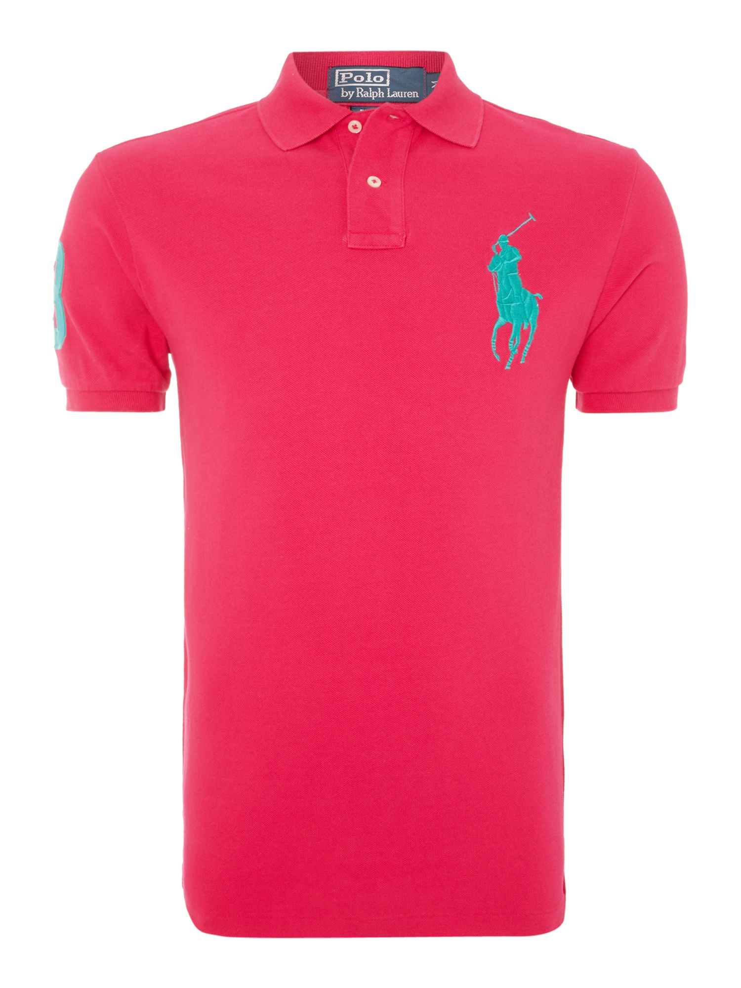 Polo ralph lauren Big Pony 3 Sleeve Slim Fit Polo Shirt in Green for Men | Lyst