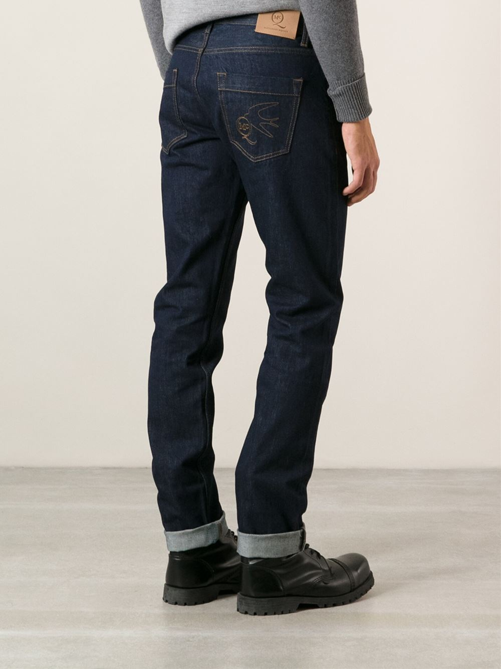 slim-fit jeans - Blue Alexander McQueen Buy Cheap Big Sale Discount With Credit Card Outlet Comfortable New Styles For Sale R2uEhBvc6
