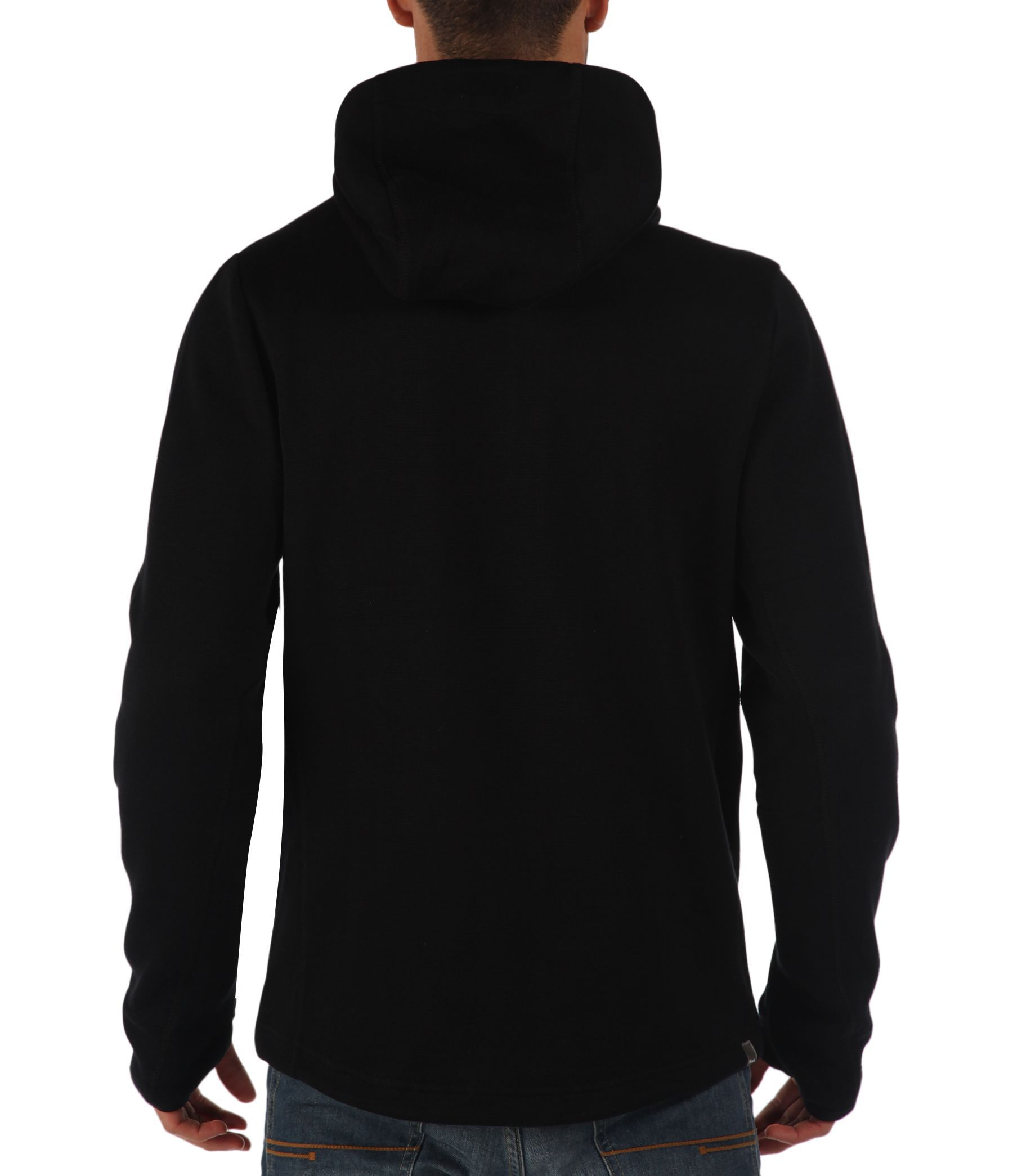 Bench Assertive Plain Zip Thru Hoodie In Black For Men Lyst