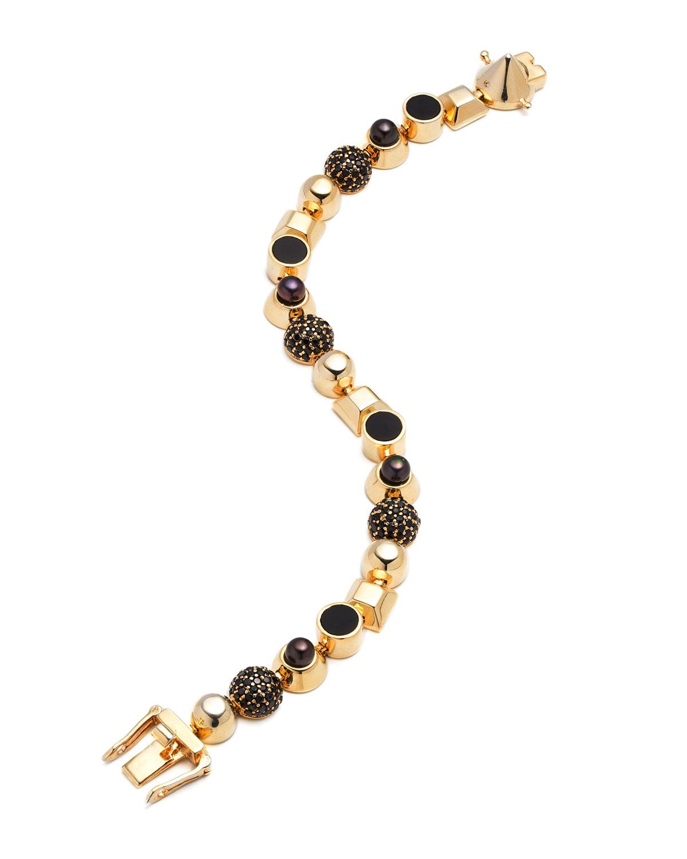 Lyst Eddie Borgo Collage Cabochon Stud Bracelet In Metallic