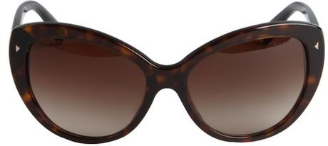 bbd7b229577 Prada Sunglasses Cat Eye Brown