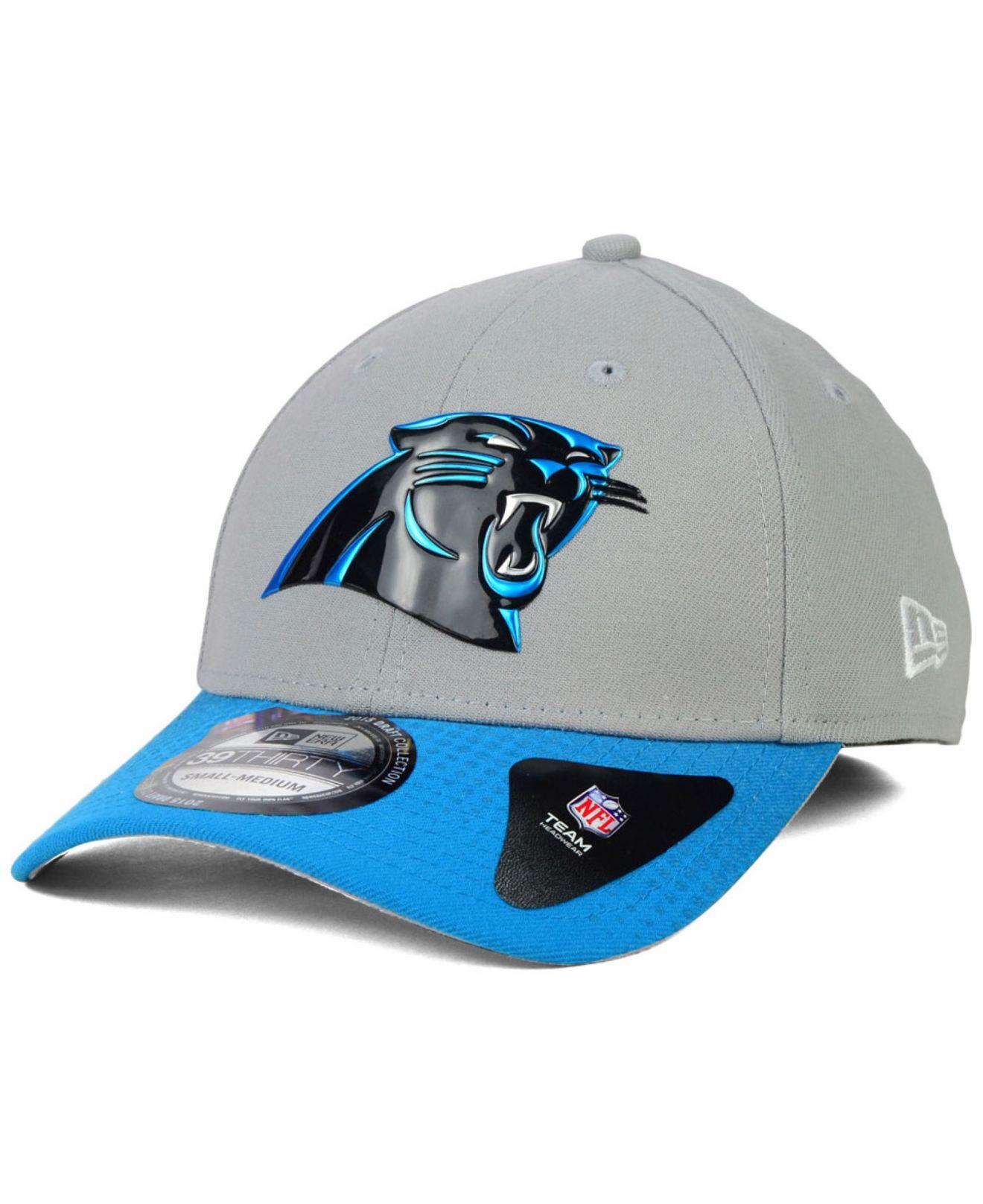 super popular c1e1b 8d86b ... cheap lyst ktz carolina panthers 2015 nfl draft 39thirty cap in gray  for men 5fc24 3b131