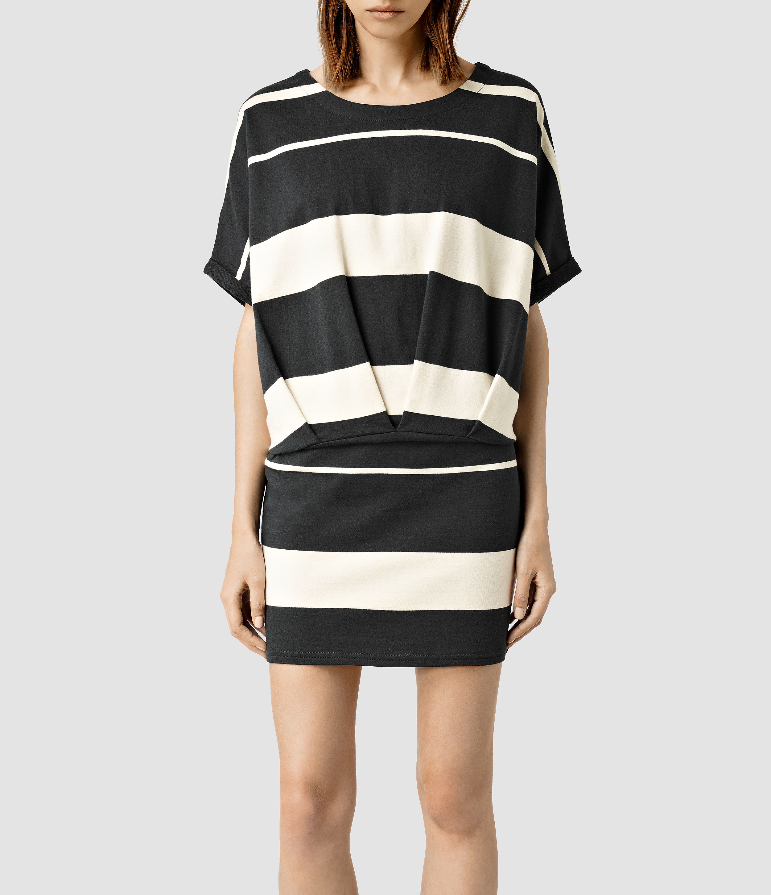8684db5906 Lyst - AllSaints Lea Mal Stripe Dress in White