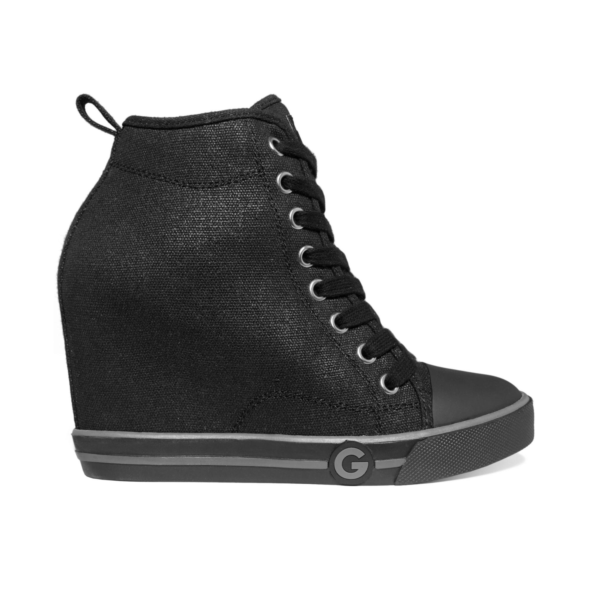 Black Lace Guess Shoes
