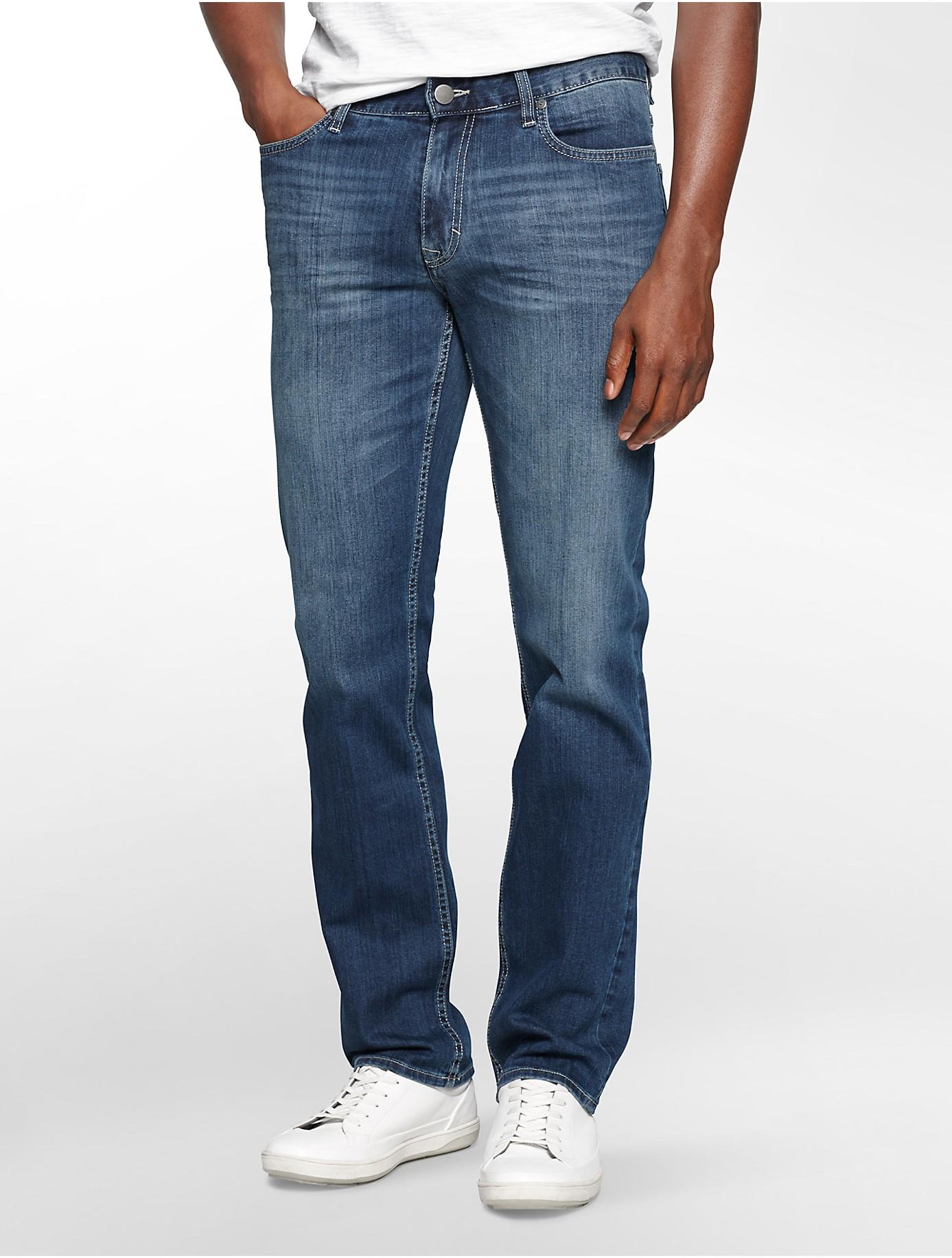calvin klein jeans slim straight leg authentic blue wash. Black Bedroom Furniture Sets. Home Design Ideas