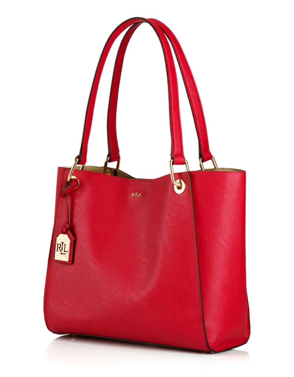 Ralph Lauren Tote Laukku : Lauren by ralph aiden per tote in red lyst
